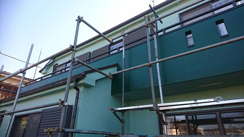外壁・屋根 塗装工事 施工中