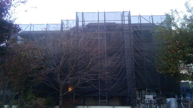 清瀬市 マンション大規模修繕 足場組み完了